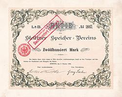 Stettiner Speicher-Verein, 1906