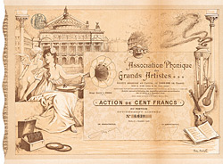 Association Phonique des Grands Artistes, 1906