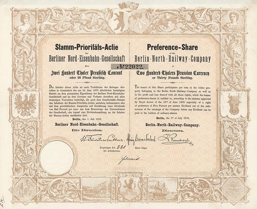 Historische Wertpapiere - 50. Auktion am 16.7.2012