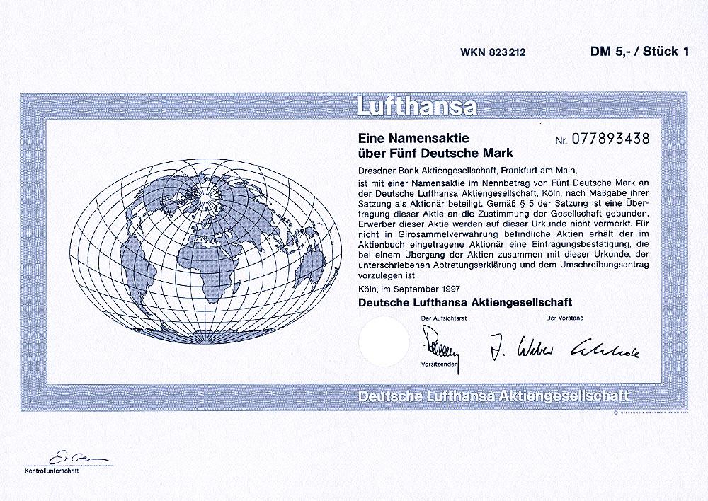 Deutsche Lufthansa Aktie