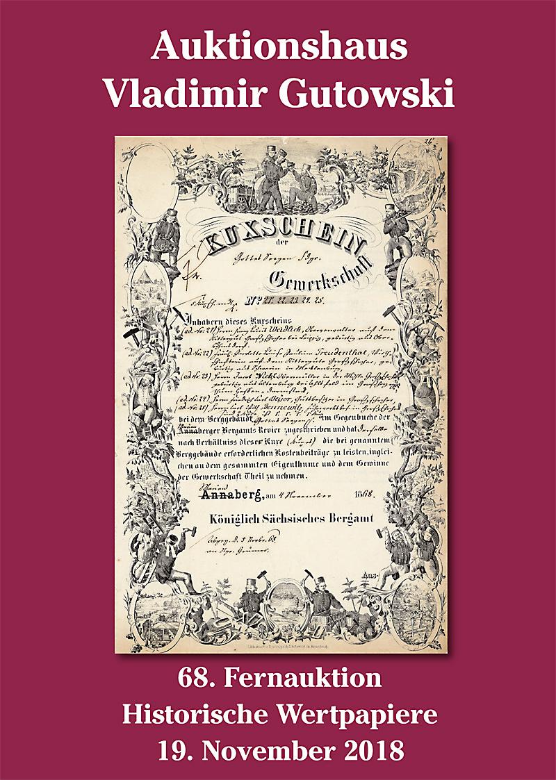 Katalog der 68. Auktion am 19.11.2018