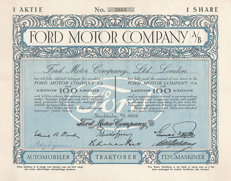 Ford Aktie
